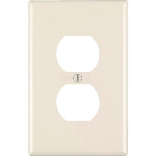 Leviton 1-Gang Smooth Plastic Oversized Outlet Wall Plate, Light Almond