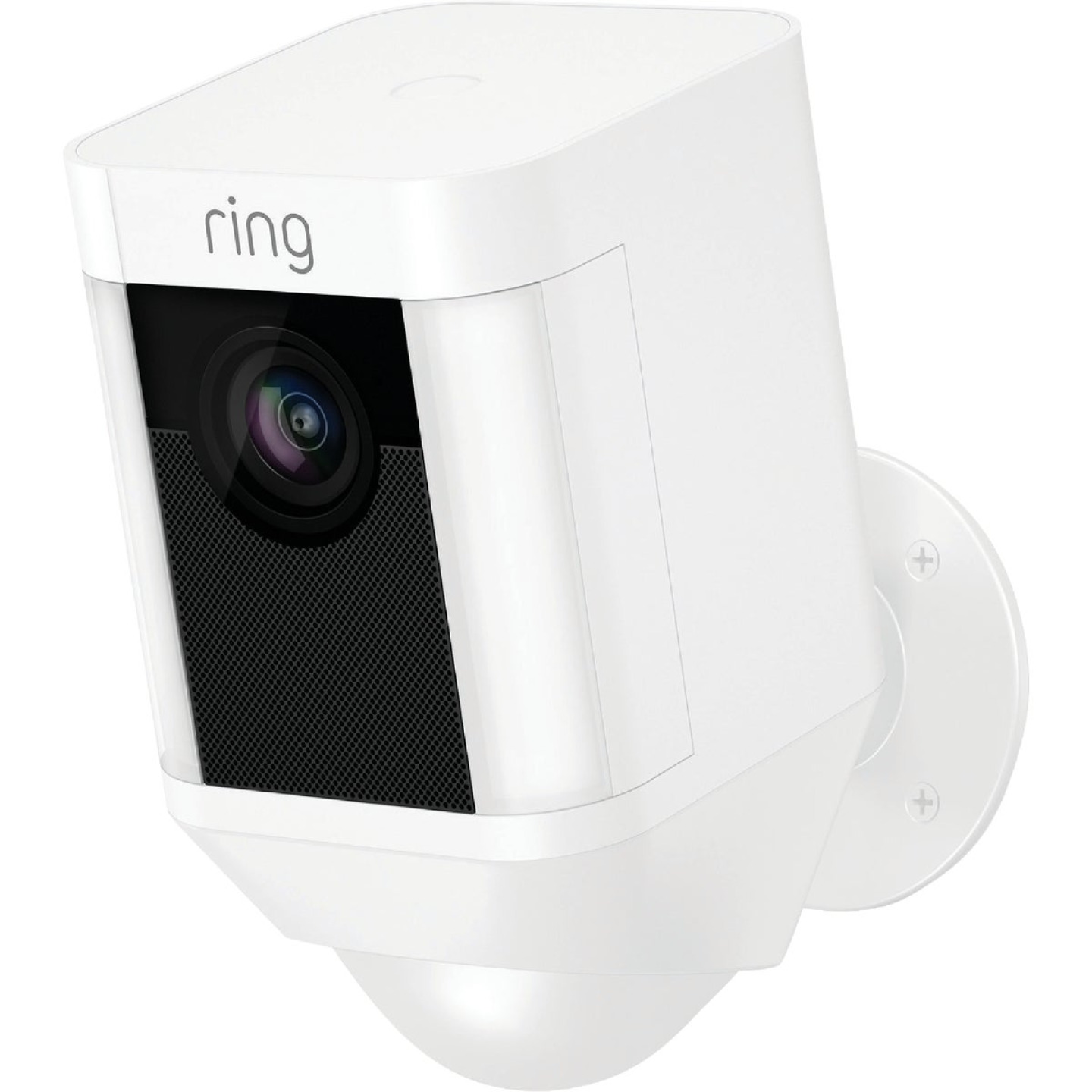 Ring Wireless Indoor/Outdoor White Security Camera with Spotlight Image 1