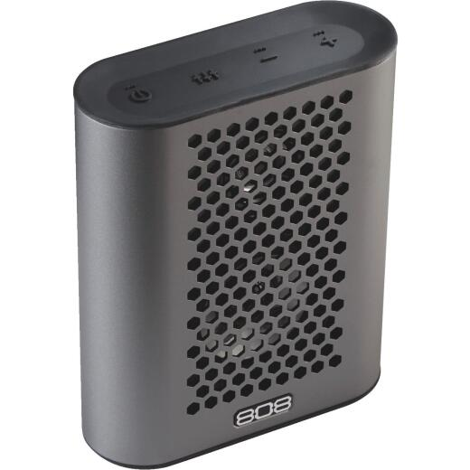 808 Hex TLS Bluetooth Gun Metal Gray Wireless Speaker