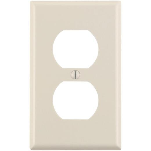 Leviton 1-Gang Smooth Plastic Outlet Wall Plate, Light Almond (10-Pack)