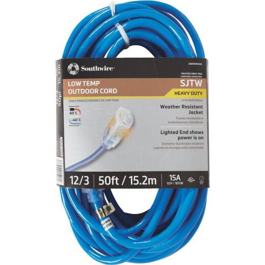 Coleman Cable ColdFlex 50 Ft. 12/3 Cold Weather Extension Cord