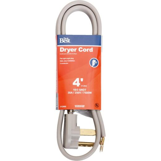 Do it Best 4 Ft. 10/3 30A Dryer Cord