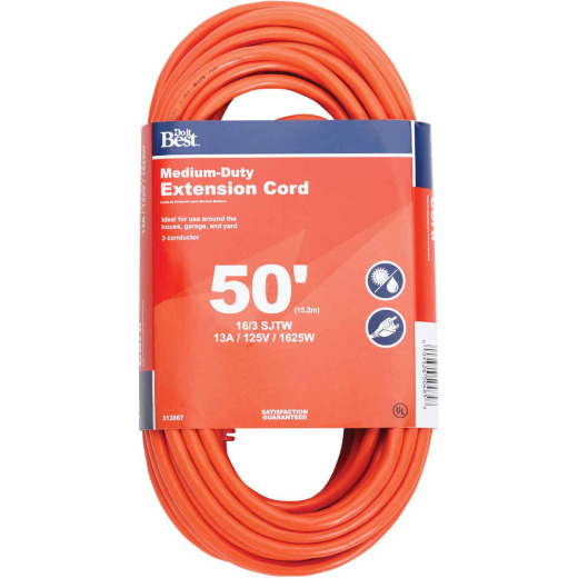 Do it Best 50 Ft. 16/3 Outdoor Extension Cord