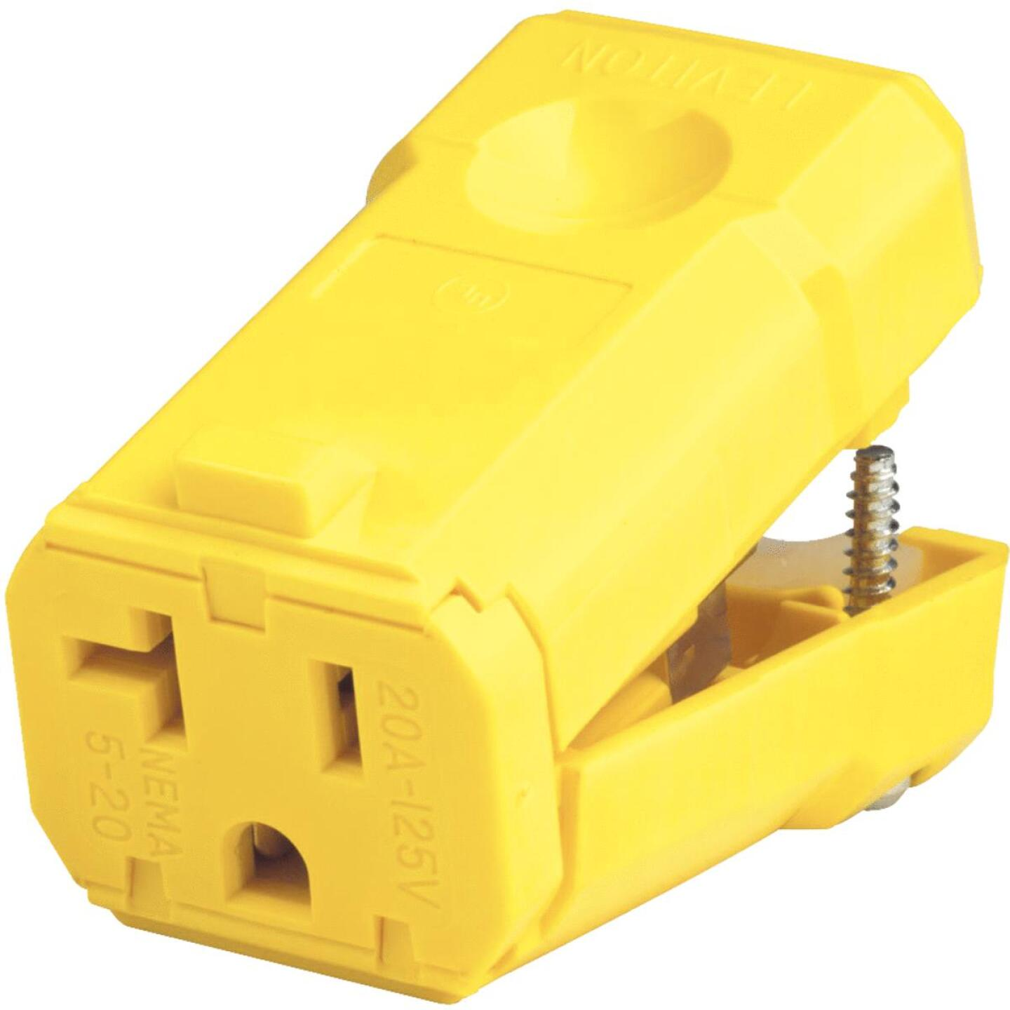 Leviton 20A 125V 3-Wire 2-Pole Python Cord Connector Image 2