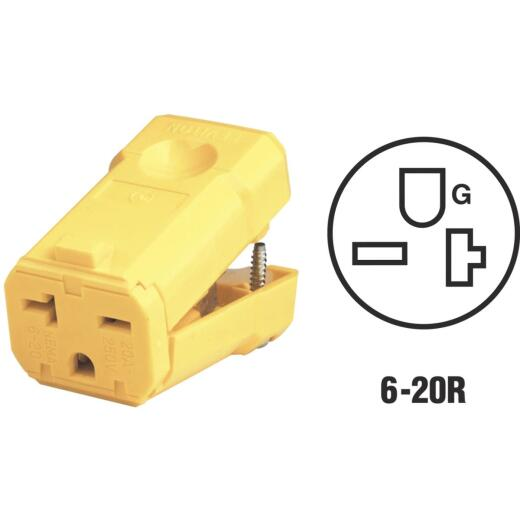 Leviton 20A 250V 3-Wire 2-Pole Python Cord Connector