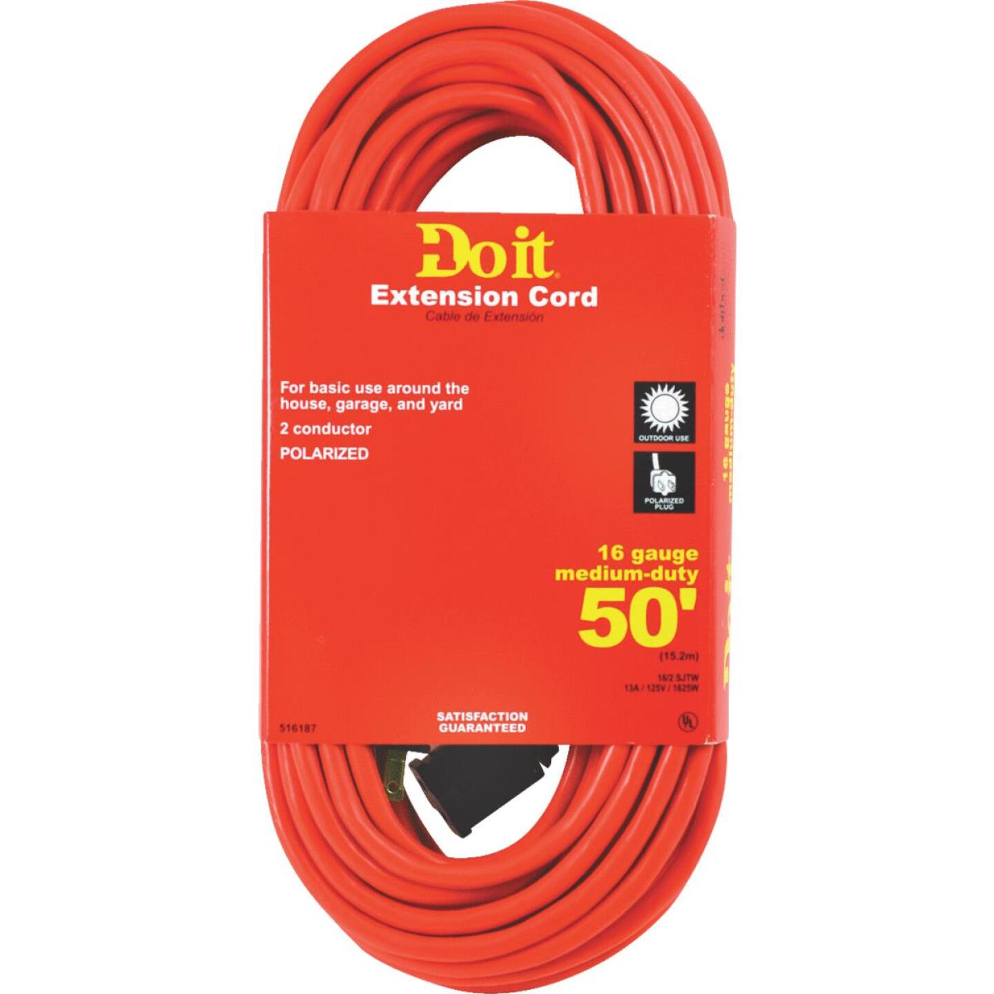 Do it 50 Ft. 16/2 Polarized Outdoor Extension Cord Image 1