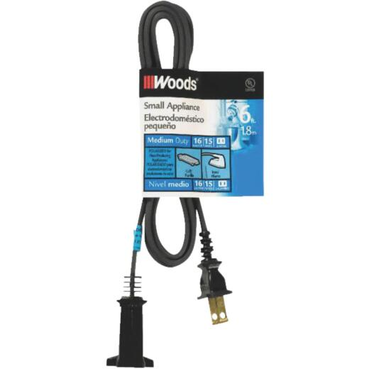 Woods 6 Ft. 16/2 15A Heater & Appliance Cord