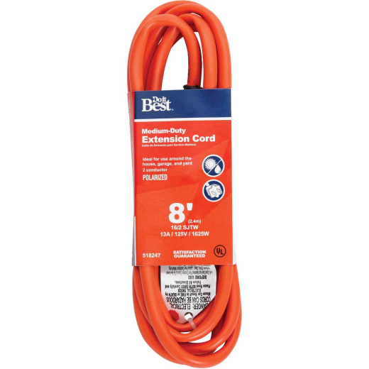 Do it Best 8 Ft. 16/2 Polarized Outdoor Extension Cord