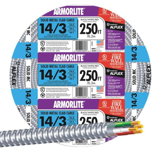 Southwire 250 Ft. 14/3 MC Armored Cable