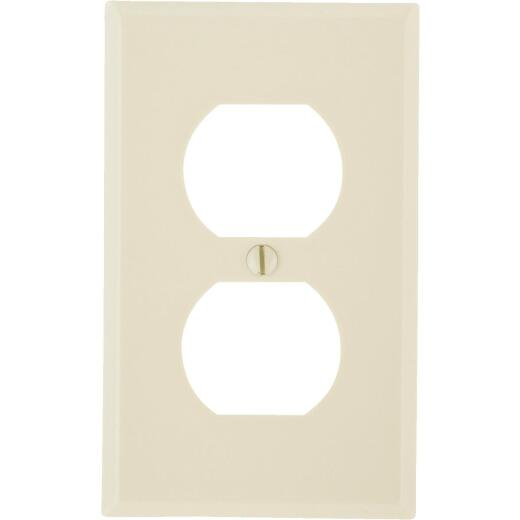 Leviton 1-Gang Smooth Plastic Outlet Wall Plate, Ivory