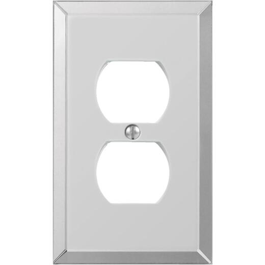 Amerelle 1-Gang Acrylic Outlet Wall Plate, Beveled Mirror