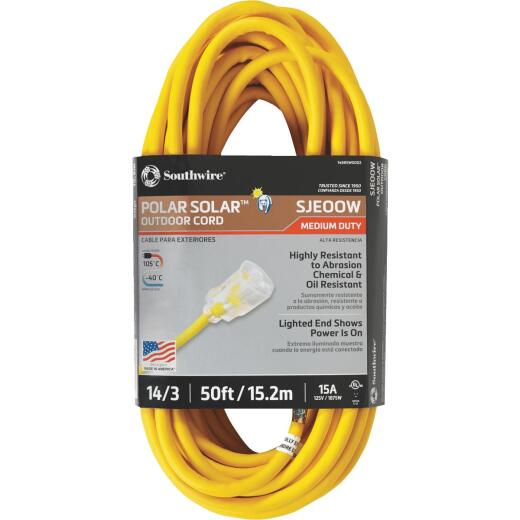 Coleman Cable 50 Ft. 14/3 Cold Weather Extension Cord