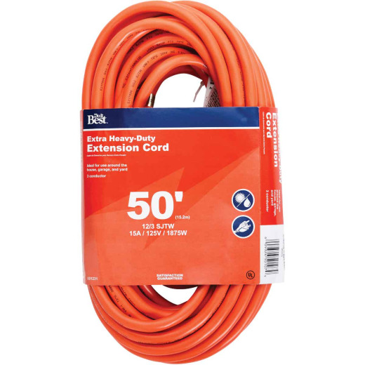 Do it Best 50 Ft. 12/3 Heavy-Duty Outdoor Extension Cord