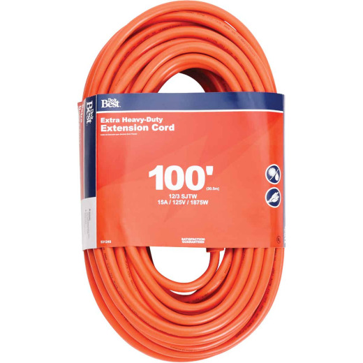 Do it Best 100 Ft. 12/3 Heavy-Duty Outdoor Extension Cord