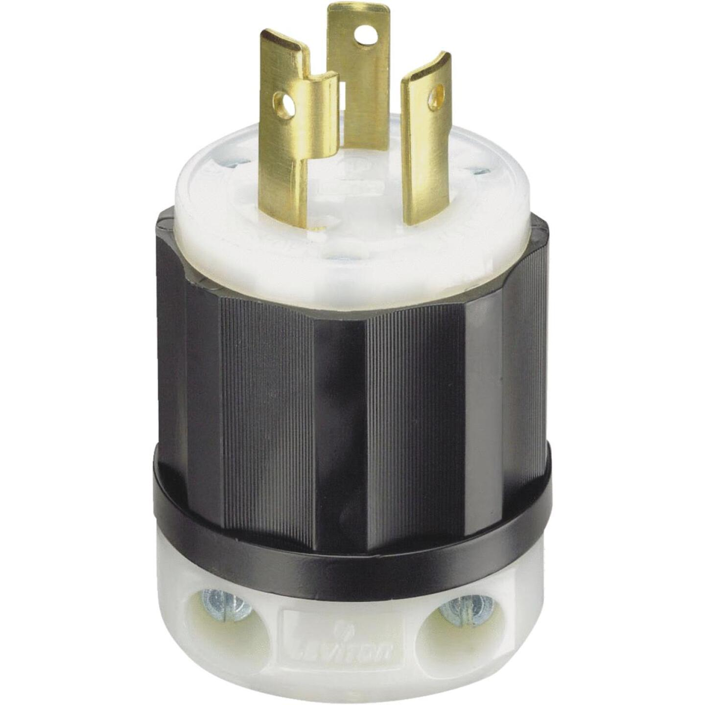 Leviton 30A 125V 3-Wire 2-Pole Industrial Grade Locking Cord Plug Image 2