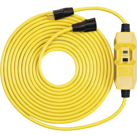 Southwire 50 Ft. 12/3 Heavy-Duty GFCI In-Line Extension Cord