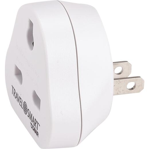 Franzus Travel Smart 3-Blade Combination UK Plug Adapter, North America/South America/Caribbean/Japan