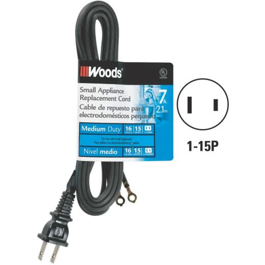 Woods 7 Ft. 16/2 15A Replacement Appliance Cord
