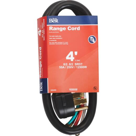 Do it Best 4 Ft. 6/2 + 8/2 Ga. 4-Conductor Range Cord