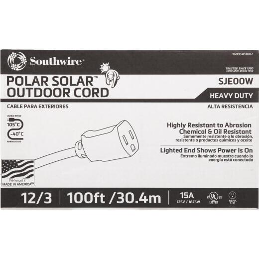 Coleman Cable 100 Ft. 12/3 Cold Weather Extension Cord