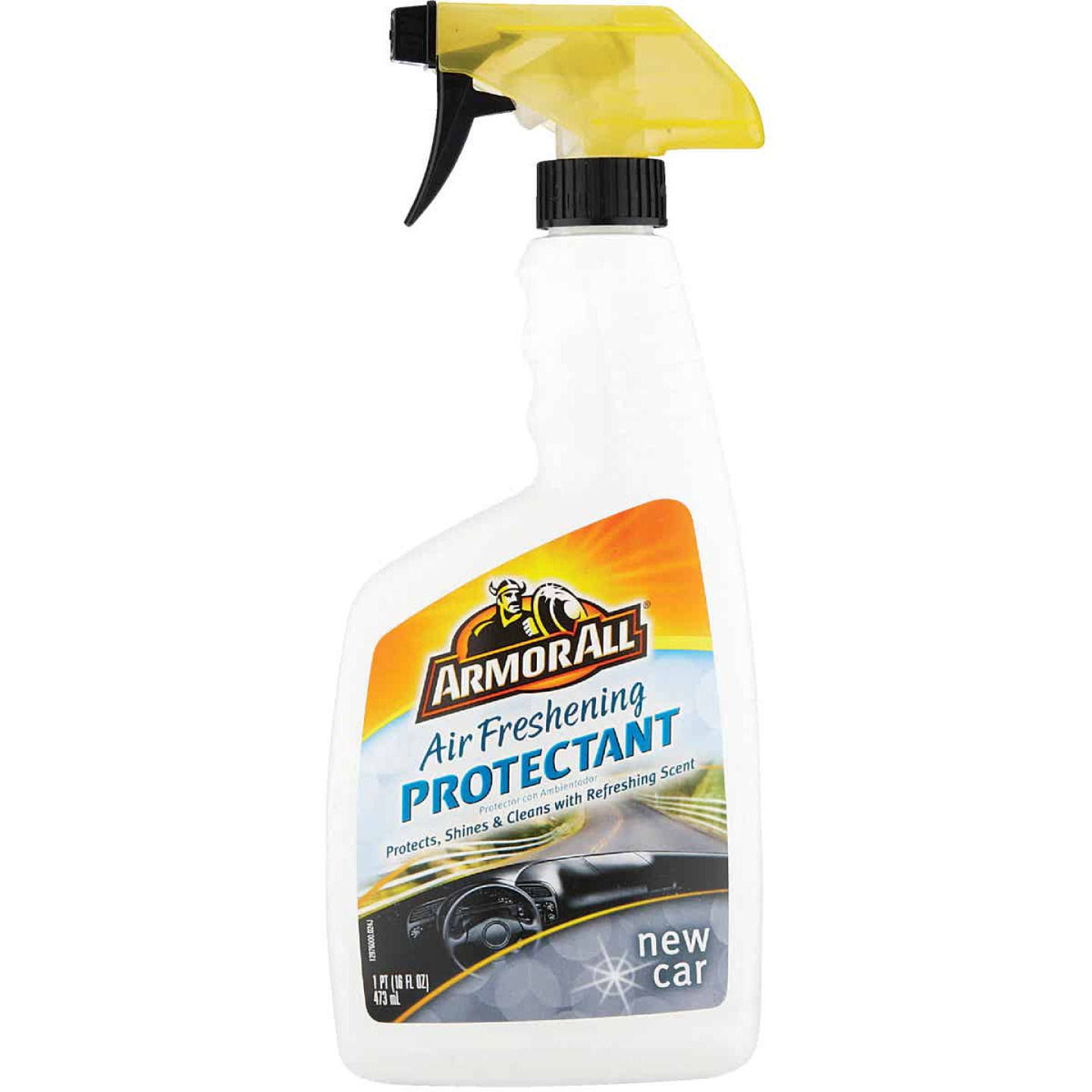 Armor All 16 Oz. Pump Spray Air Freshening Protectant, New Car Scent Image 1