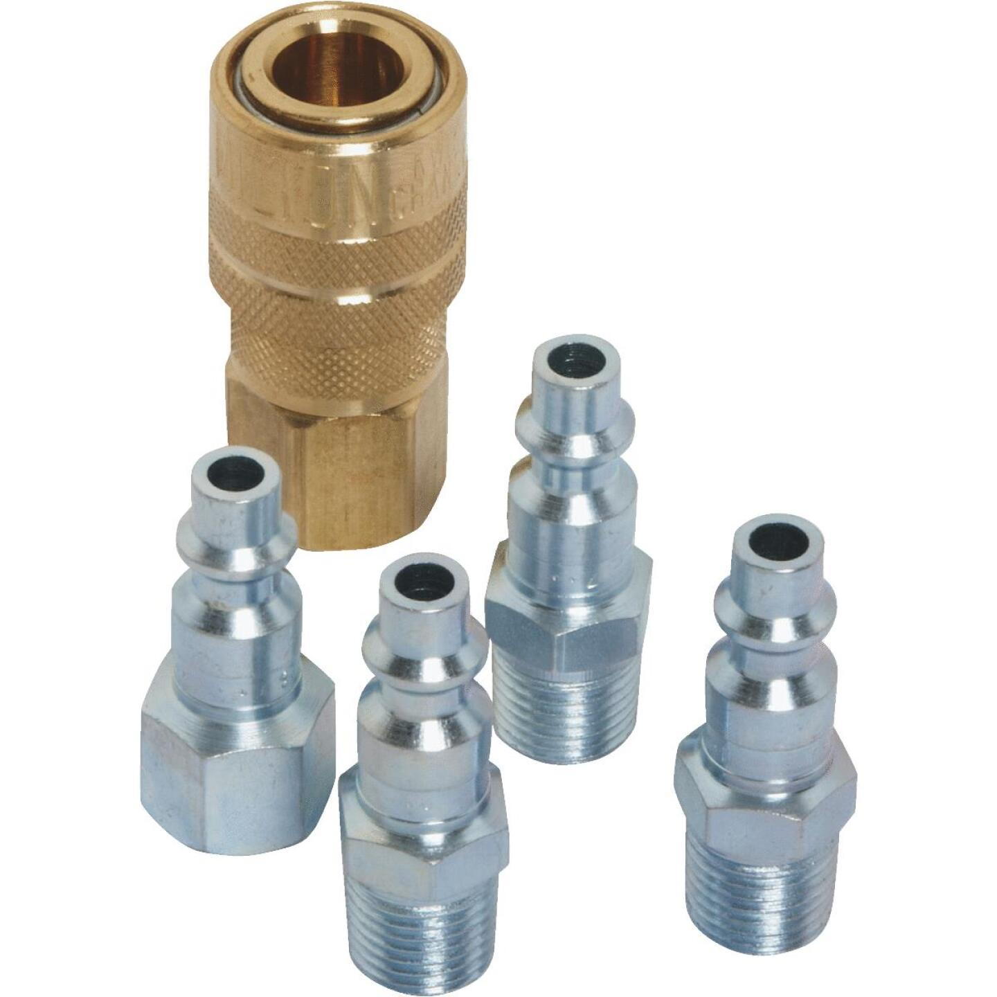 Milton 1/4 In. M-Style Coupler and Plug Kit, (5-Piece) Image 3