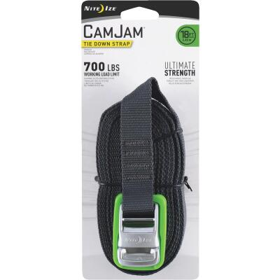 Nite Ize CamJam 1 In. x 18 Ft. 700-Lb. Working Load Limit Tie-Down Strap