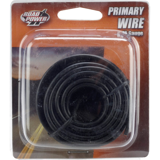 ROAD POWER 24 Ft. 16 Ga. PVC-Coated Primary Wire, Black