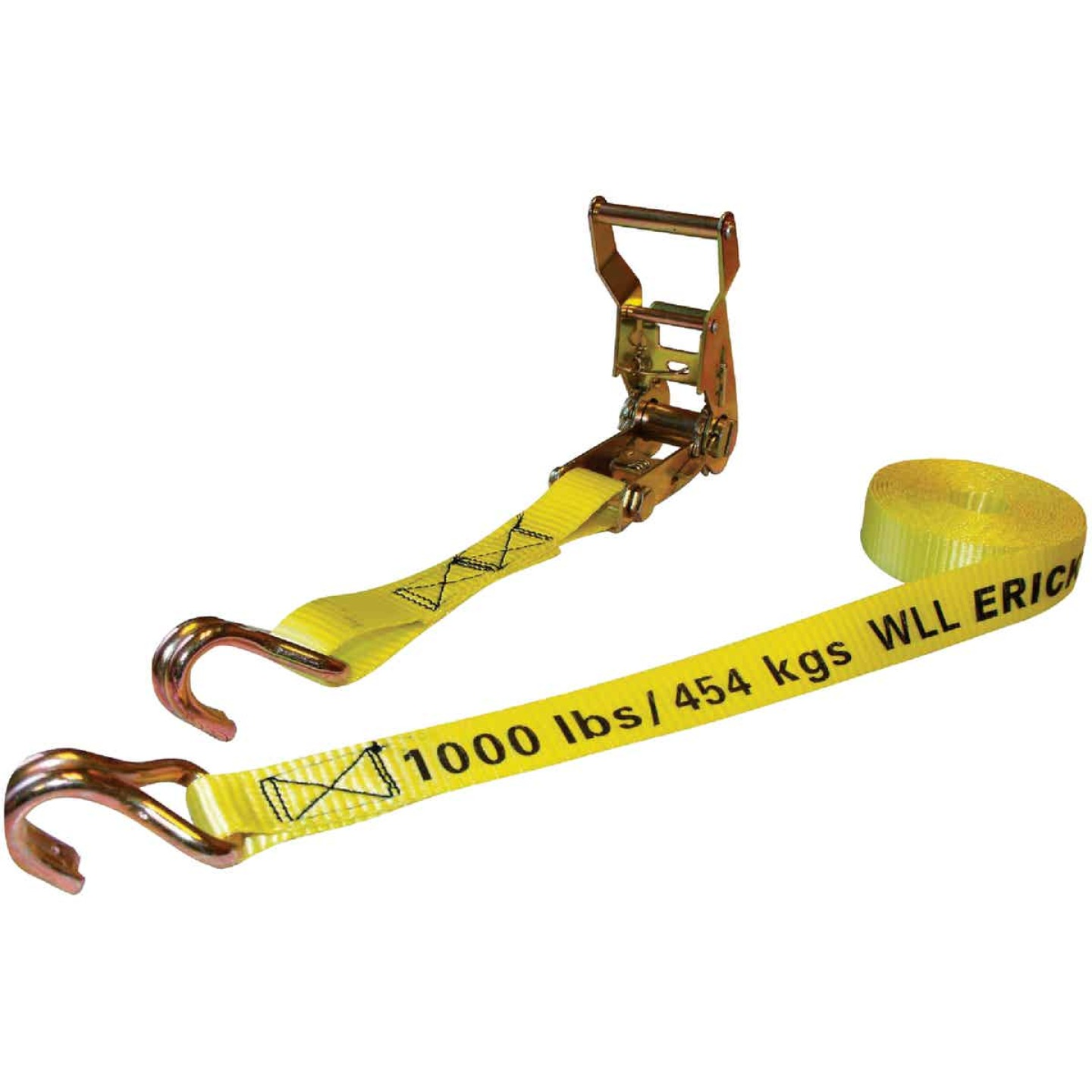 Erickson 1 In. x 25 Ft. 3000 Lb. Heavy-Duty Ratchet Strap Image 1
