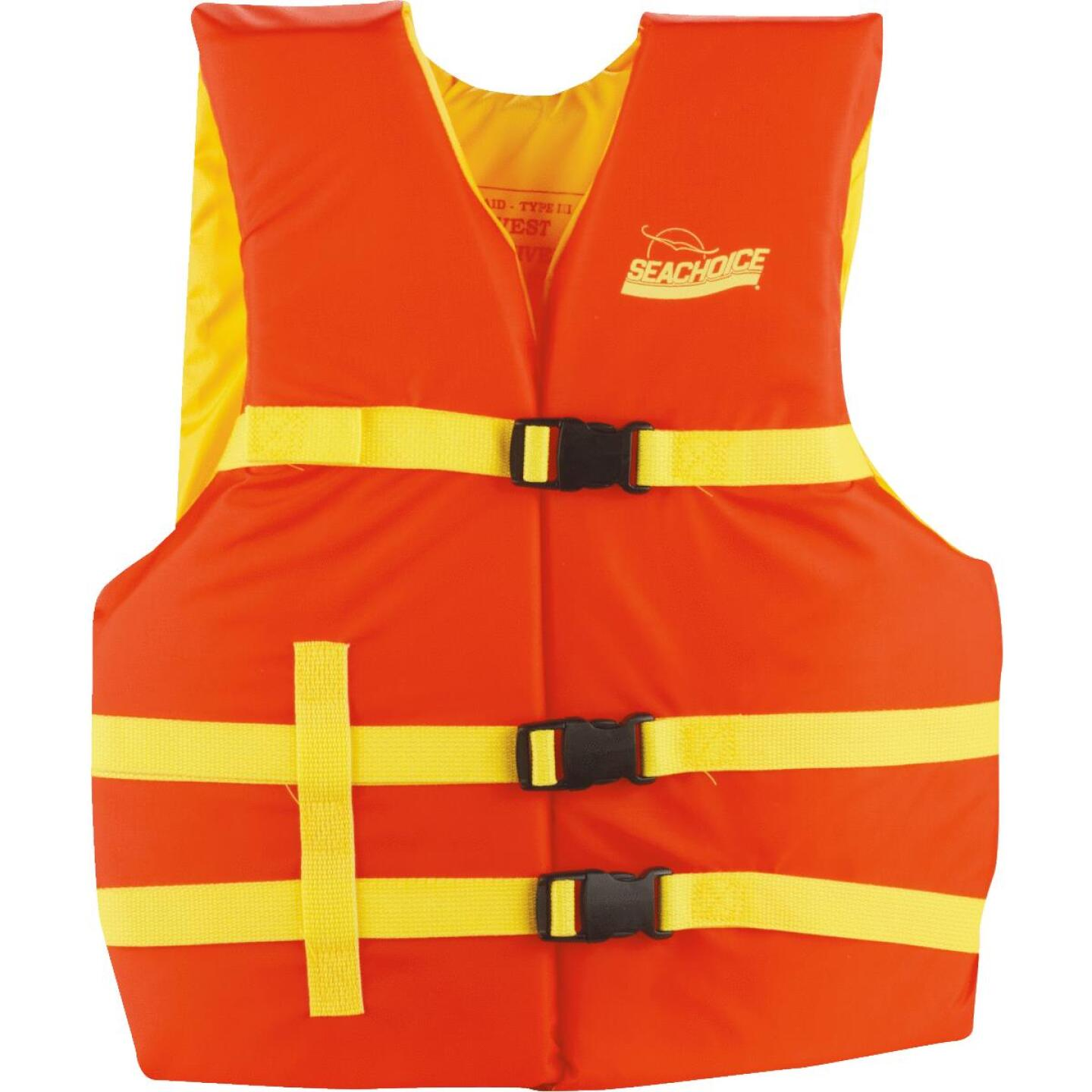 Seachoice Adult Type III & USCG 90 Lb. & Up Life Vest Image 1