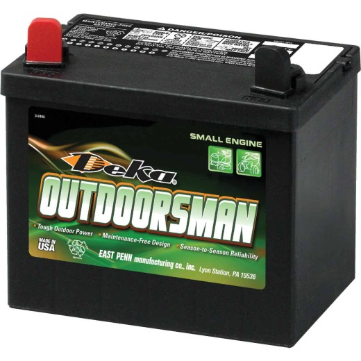 Deka Outdoorsman 12-Volt Lawn & Garden 230 CCA Small Engine Battery, Left Front Positive Terminal