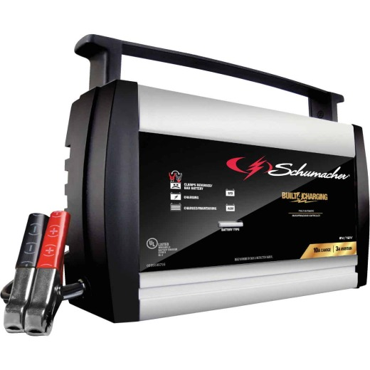 Schumacher Automatic 6V and 12V 10A Automotive and Marine Battery Charger