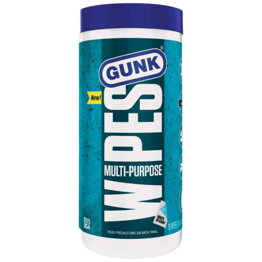 Gunk Citrus 8 In. x 12 In. Multi-Purpose Wipes (30-Count)
