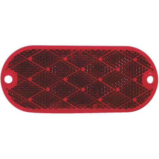 Peterson 1-7/8 In. W. x 4-3/8 In. H. Oblong Red Oval Reflector (2-Pack)