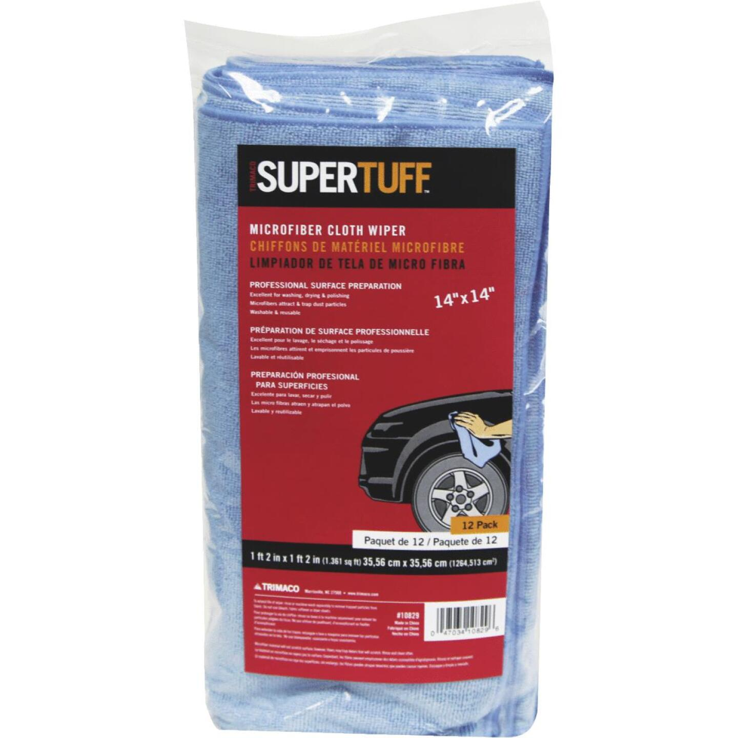 Trimaco SuperTuff 14 In. Square Microfiber Cleaning Cloth (12-Pack) Image 1