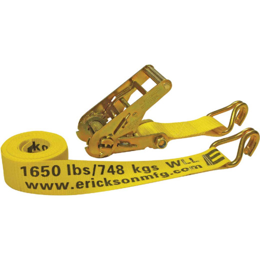 Erickson 2 In. x 15 Ft. 5000 Lb. Heavy-Duty Ratchet Strap
