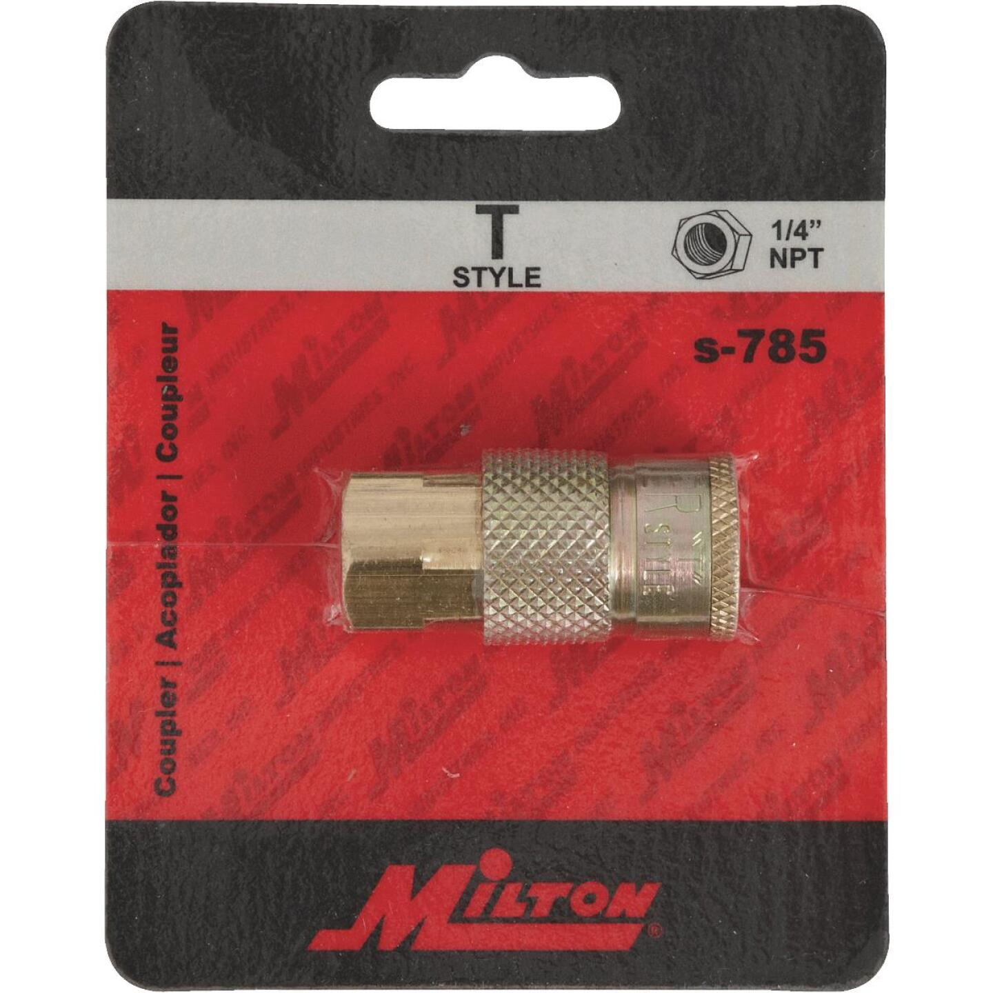 Milton Tru-Flate 1/4 In. FPT T-Style Brass Coupler Image 2