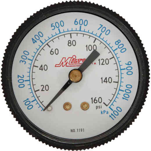 Milton 1/4 In. NPT Back Mount Mini Pressure Gauge