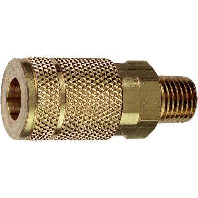 Tru-Flate Series Push-to-Connect 1/4 In. MNPT Coupler