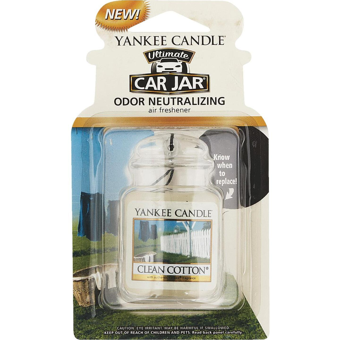 Yankee Candle Car Jar Ultimate Car Air Freshener, Clean Cotton Image 1