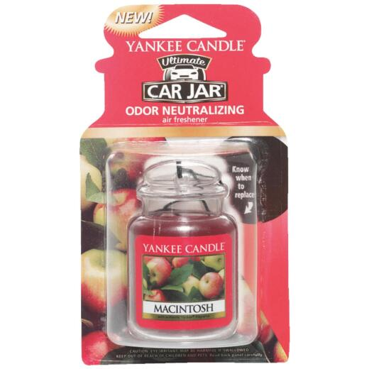 Yankee Candle Car Jar Ultimate Car Air Freshener, MacIntosh