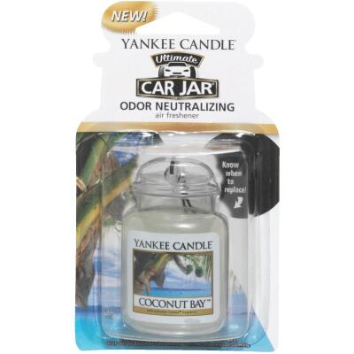 Yankee Candle Car Jar Ultimate Car Air Freshener, Coconut