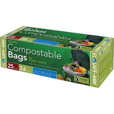 EcoSafe-6400 2.6 Gal. Compostable Green Trash Bag (25-Count)