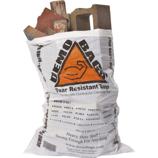 Demo 42 Gal. Contractor White Trash Bag (5-Count)