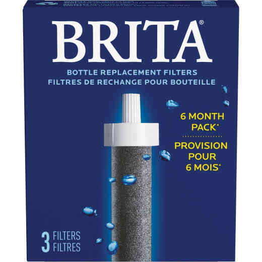 Brita Hard Sided Water Bottle Replacement Filter, (2-Pack)
