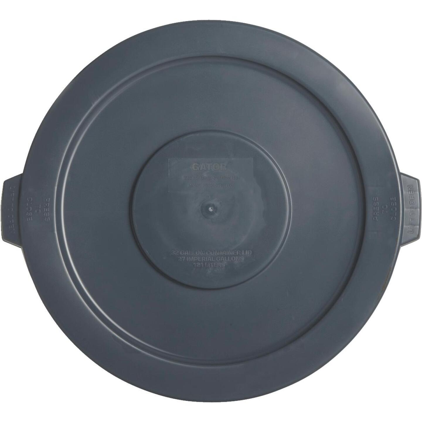 Gator Gray Trash Can Lid for 32 Gal. Trash Can Image 1