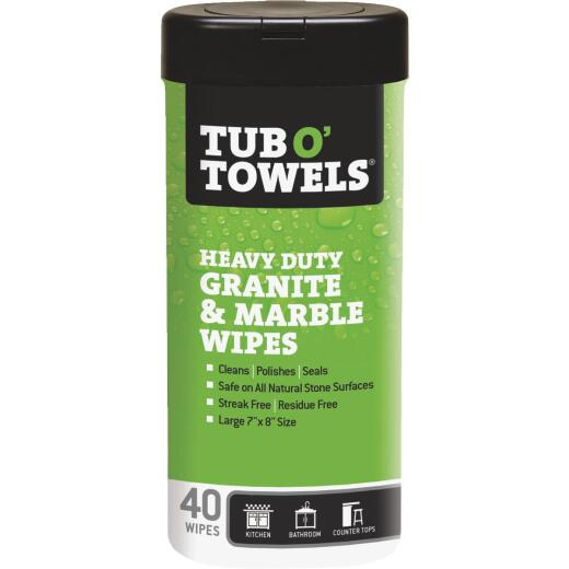 Tub O' Towels Granite and Marble Polishing Wipes (40 Count)