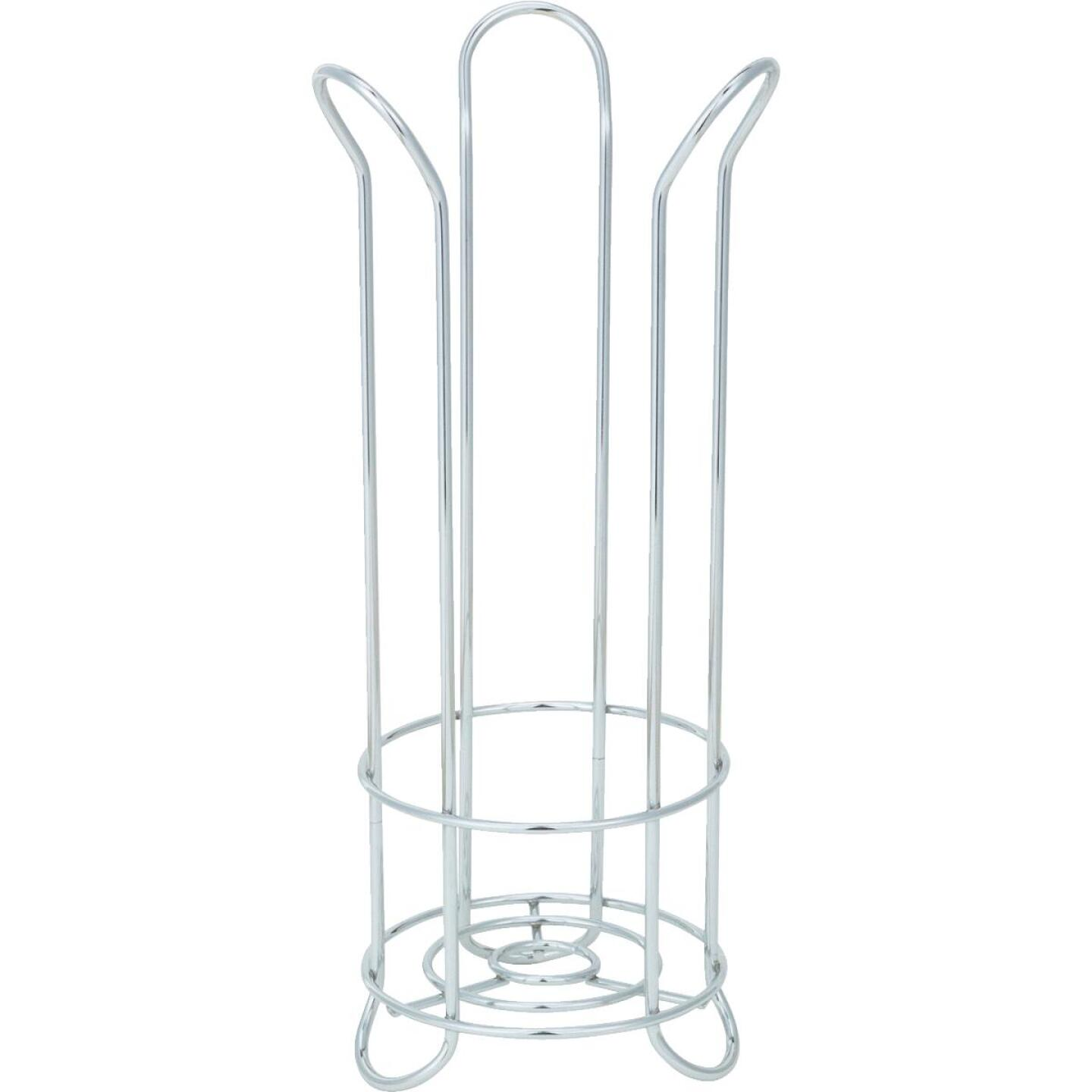 InterDesign Forma Chrome Tulip Freestanding Toilet Paper Holder Image 3