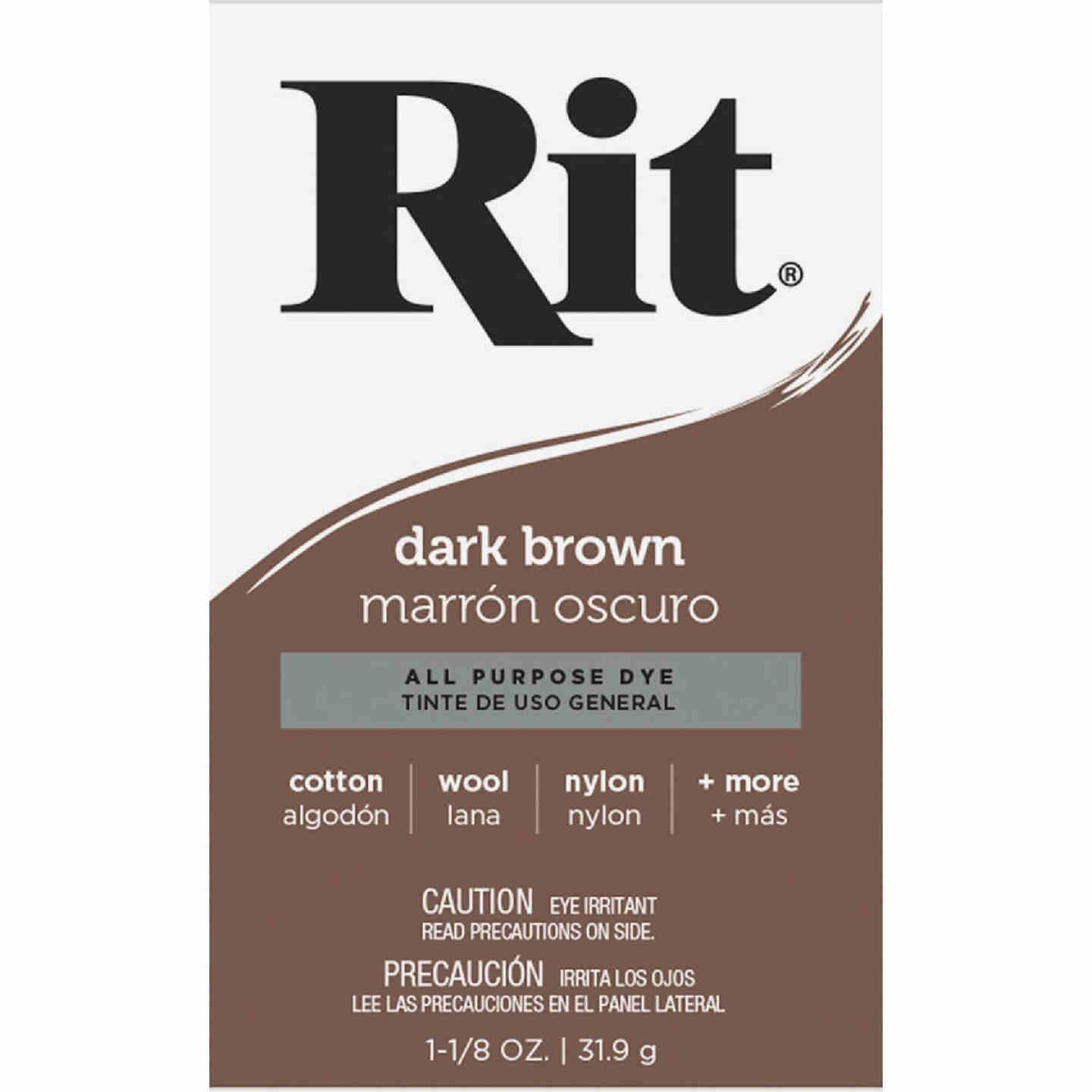 Rit Dark Brown 1-1/8 Oz. Powder Dye Image 2