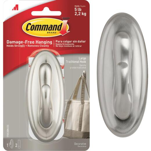 Command 1-5/8 In. x 4-1/8 In. Metallic Utility Adhesive Hook